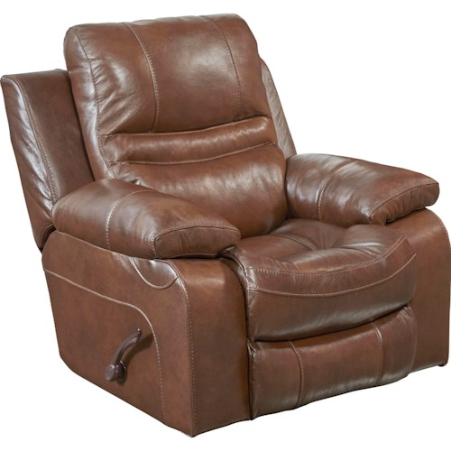 Catnapper 424 Patton Glider Recliner with Pillow Arms