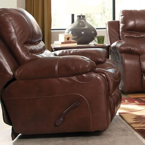 Catnapper 424 Patton Power Lay Flat Recliner with Pillow Arms