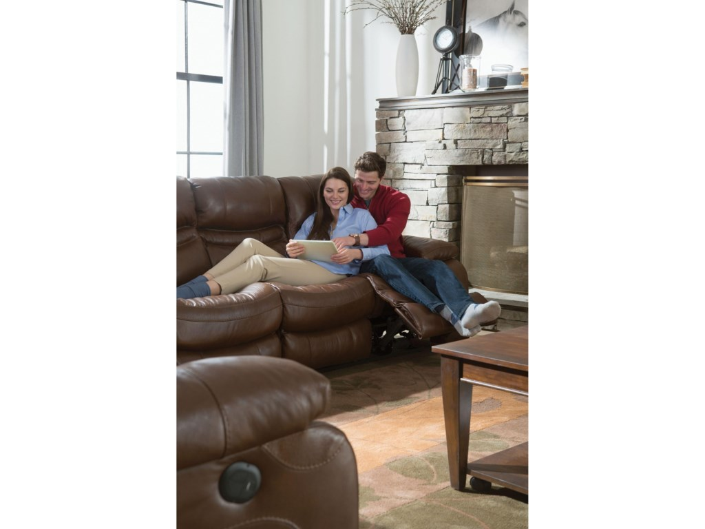 Catnapper 424 PattonPower Lay Flat Reclining Sofa