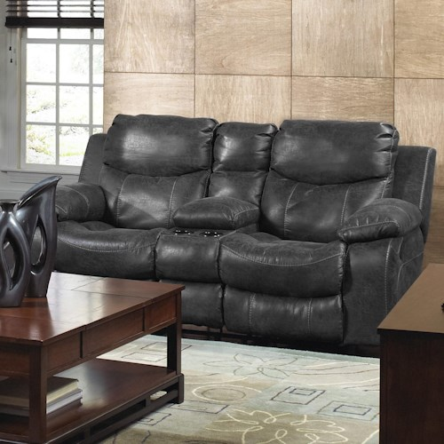 Catnapper Catalina 431 Reclining Console Loveseat for Comfortable and Sophisticated Family Room