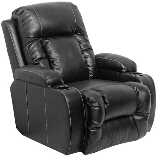 Catnapper Top Gun Casual Wall-Hugger Recliner with Cup Holders