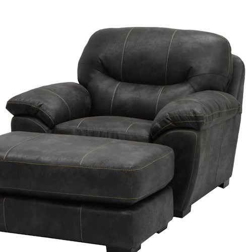 Jackson Furniture Gunsmoke Chair And A Half For Living Rooms And Family Rooms Efo Furniture
