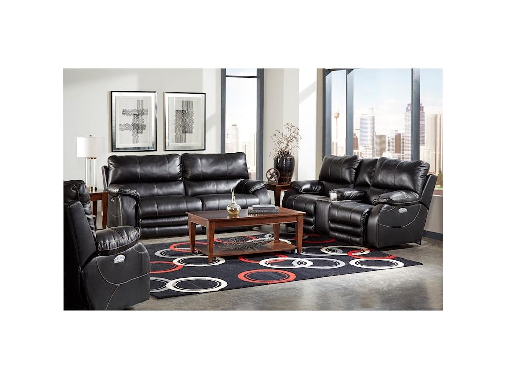 Catnapper Reclining CollectionPower Headrest Power Lay Flat Reclining Sofa