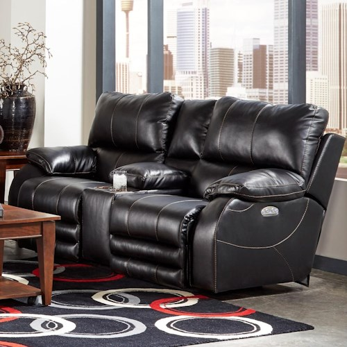 Catnapper Reclining Collection Reclining Loveseat With Power Headrest and Power Lay Flat