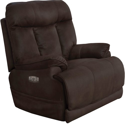 Catnapper Amos Casual Power Lay Flat Recliner with Power Headrest and Lumbar