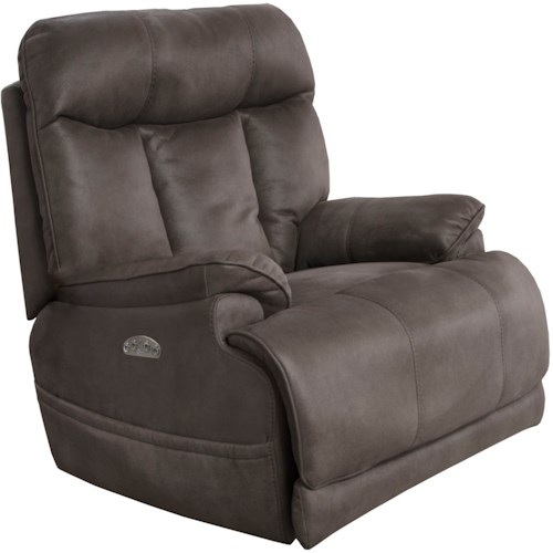 Catnapper Amos Casual Power Lay Flat Recliner with Power Headrest