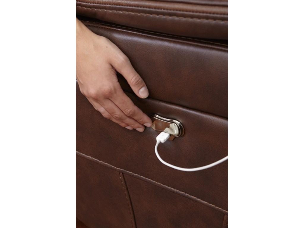 Catnapper BeckettPower Reclining Loveseat with USB Port