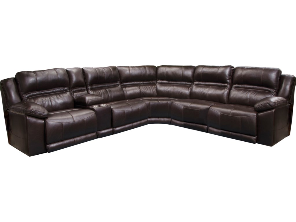 Catnapper BergamoFive Piece Power Reclining Sectional Sofa