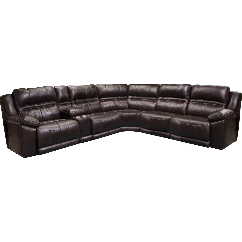 Catnapper BergamoFive Piece Power Reclining Sectional Sofa ...