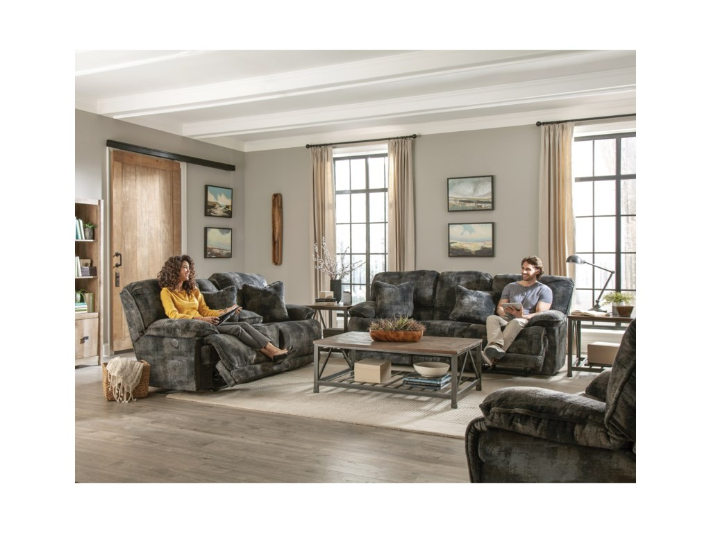 Catnapper BoltReclining Console Loveseat