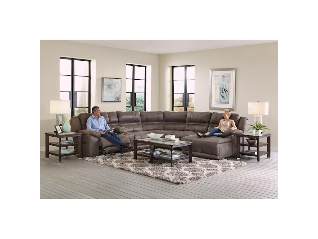 Catnapper BraxtonFive Seat Reclining Sectional Sofa