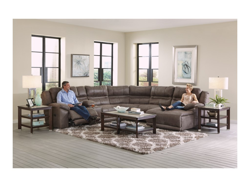 Catnapper BraxtonFive Seat Reclining Sectional Sofa