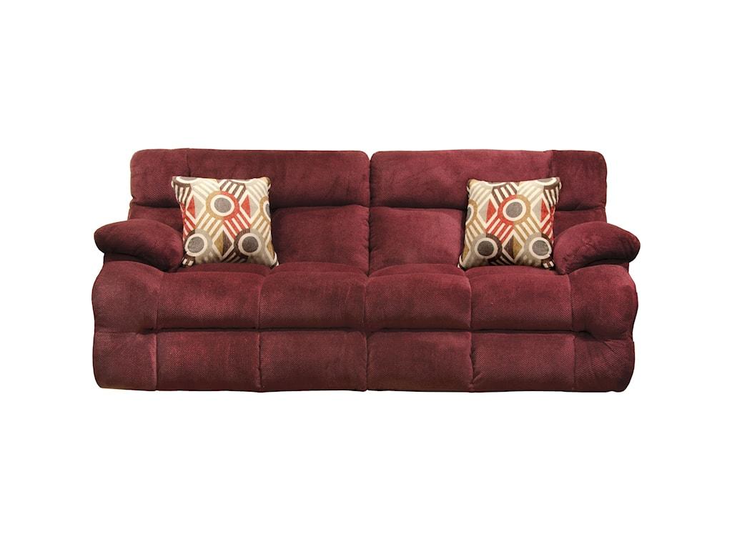 Catnapper BricePower Headrest Power Lay Flat Reclining Sofa