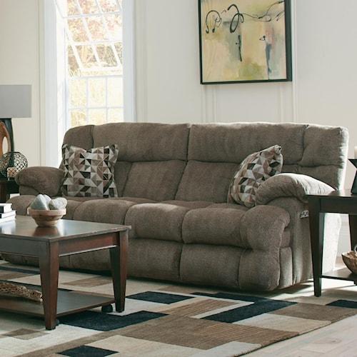 Catnapper Brice Lay Flat Reclining Sofa With Power Headrest