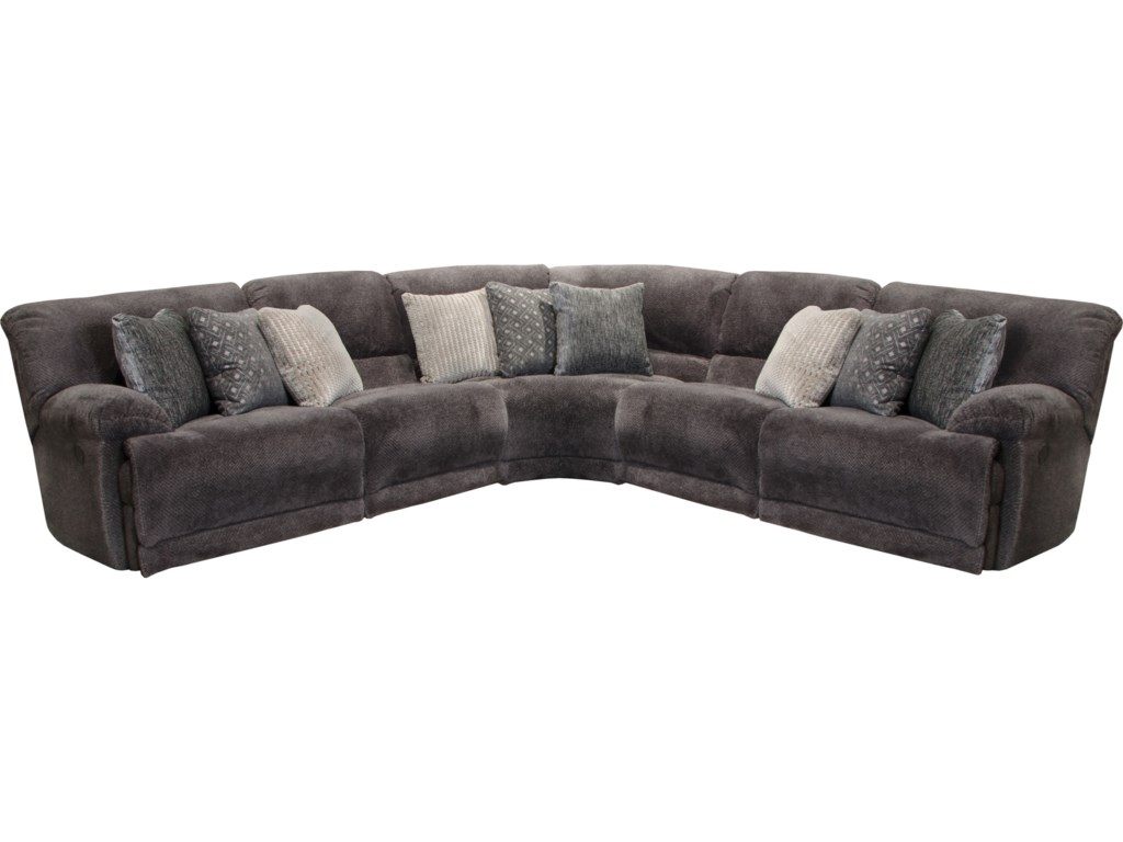 Catnapper Burbank Power Reclining Sectional With Usb Ports