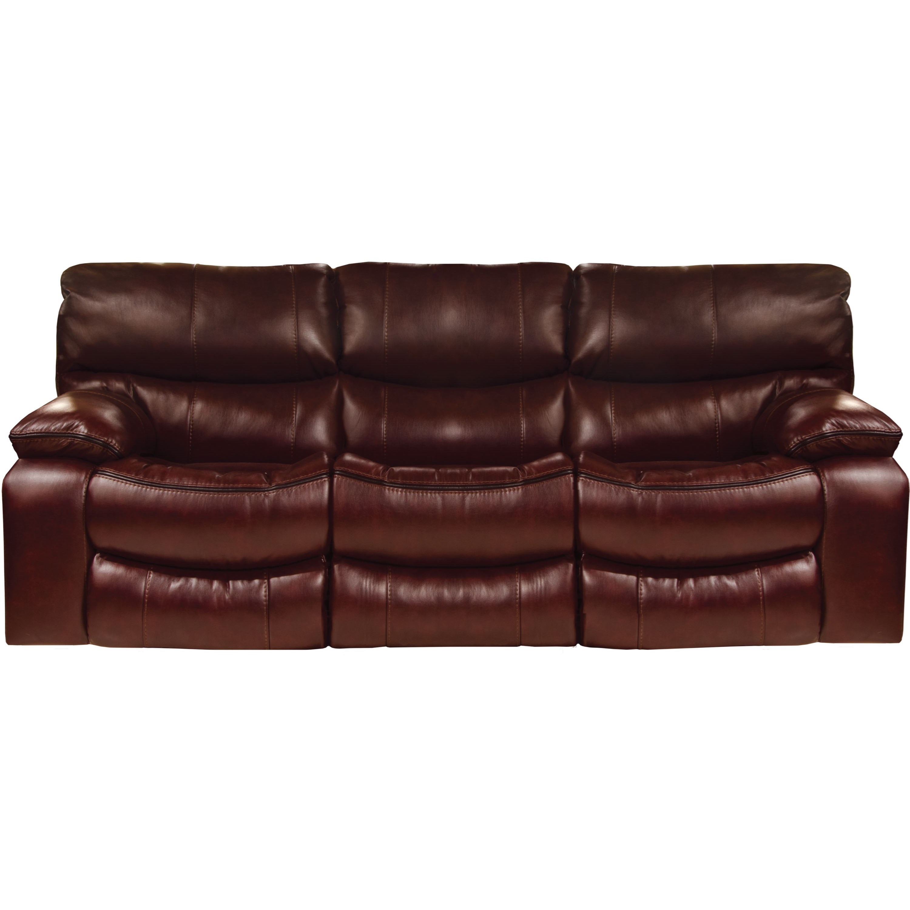 Catnapper Camden Lay Flat Reclining Sofa With Welt Stitching