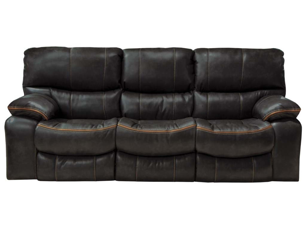 Camden Power Lay Flat Reclining Sofa with Welt Stitching by Catnapper at L  Fish