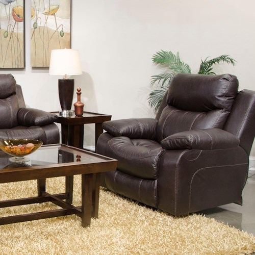 Catnapper Connor Casual Power Lay Flat Recliner with Power Headrest