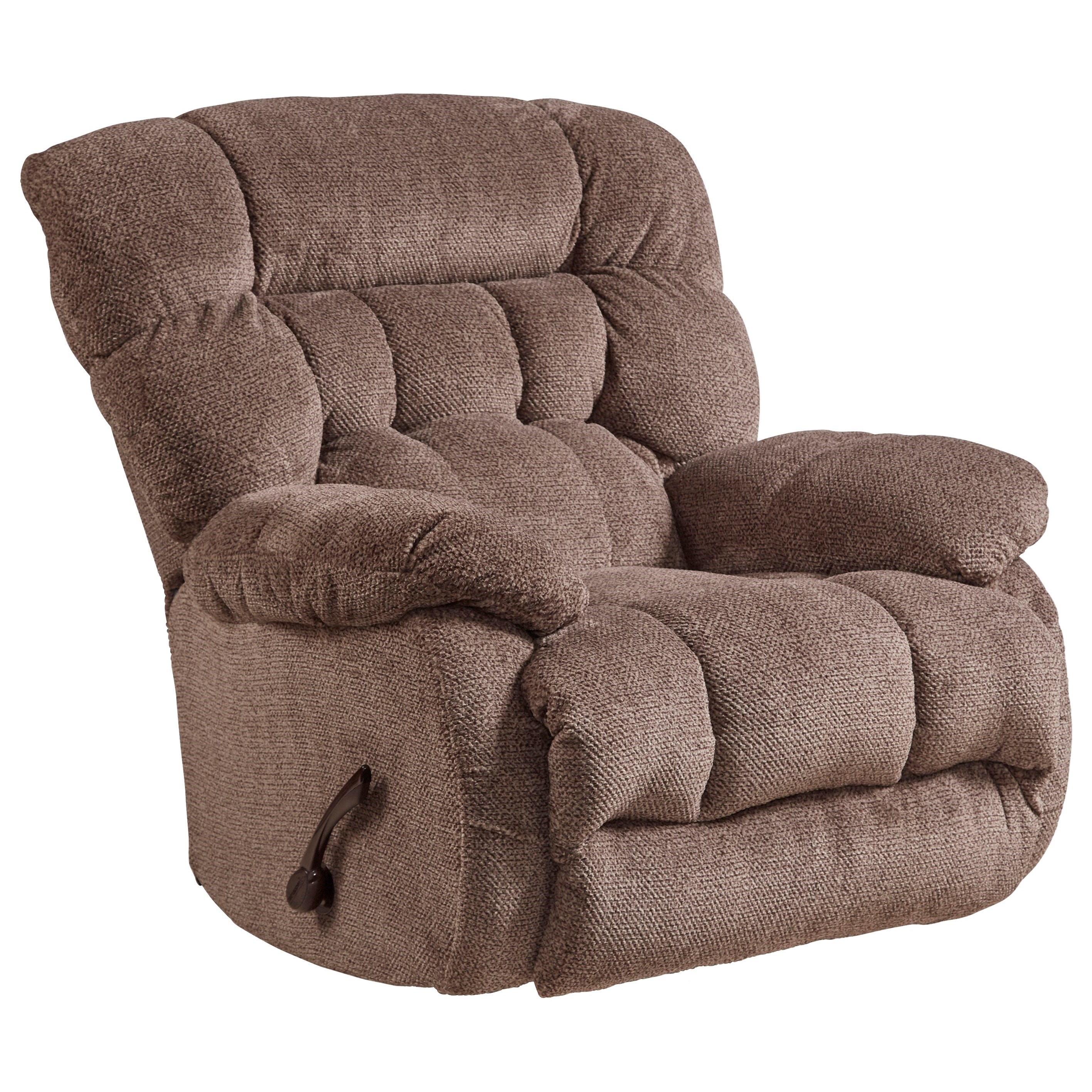 Casual Swivel Glider Recliner with Pillow Arms