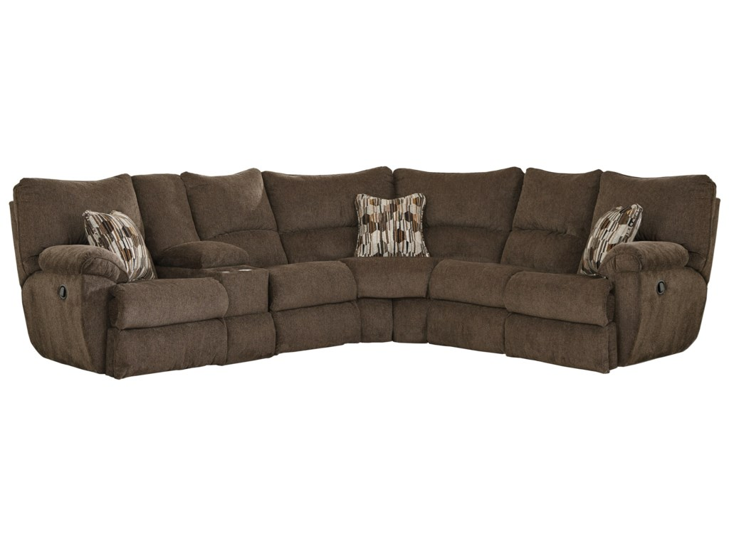 Elliott Power Lay Flat Sectional Sofa with Storage Console by Catnapper at  Gill Brothers Furniture