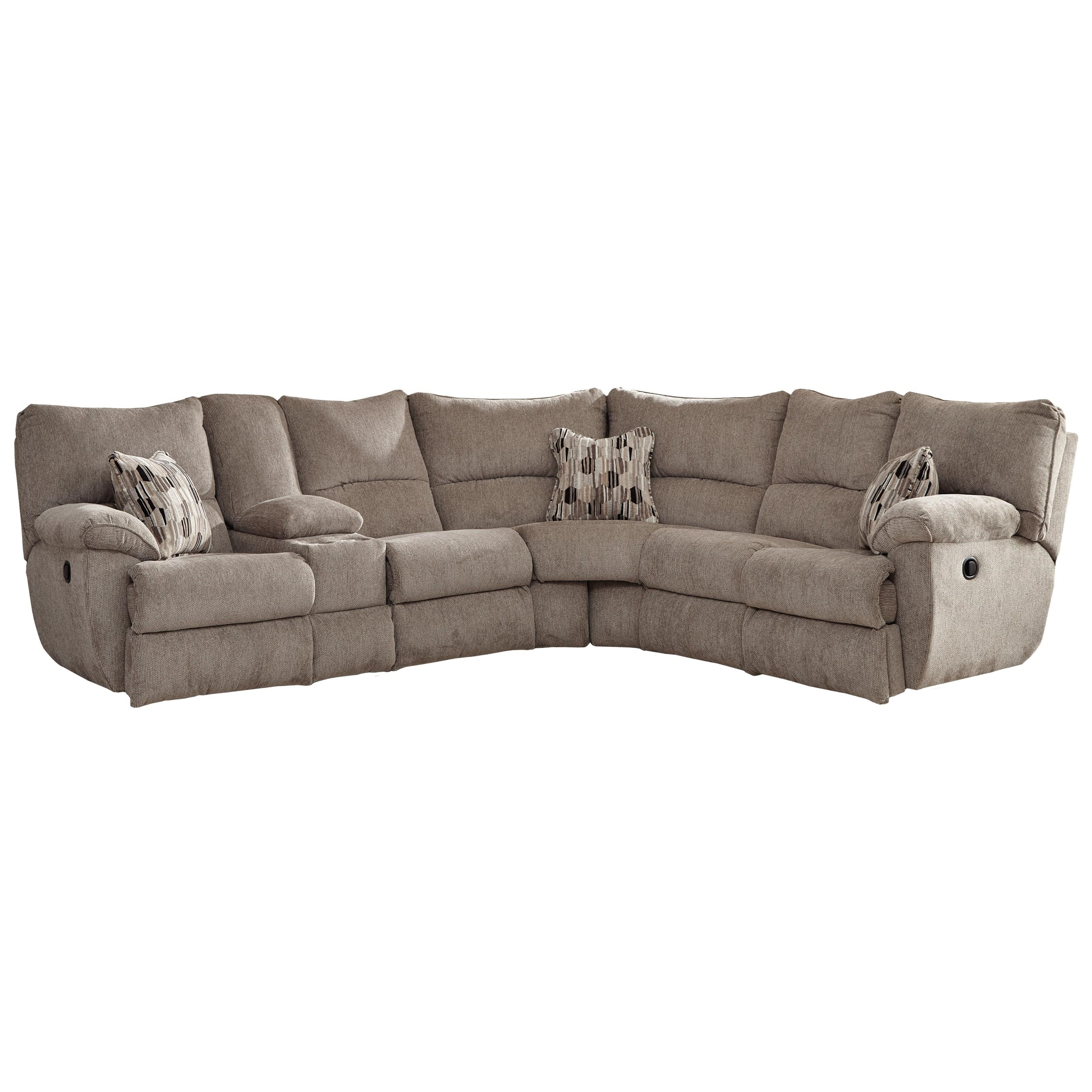 catnapper elliott lay flat sectional sofa with storage console rh greatamericanhomestore com  catnapper sectional sofas with recliners
