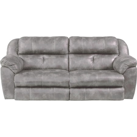 Pwr. Headrest Lay Flat Rec. Sofa w/ Lumbar