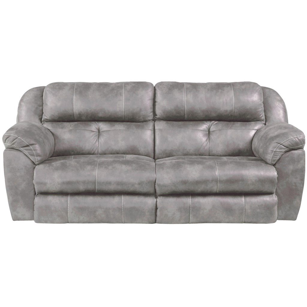 Catnapper Burlington Power Headrest Lay Flat Reclining Sofa
