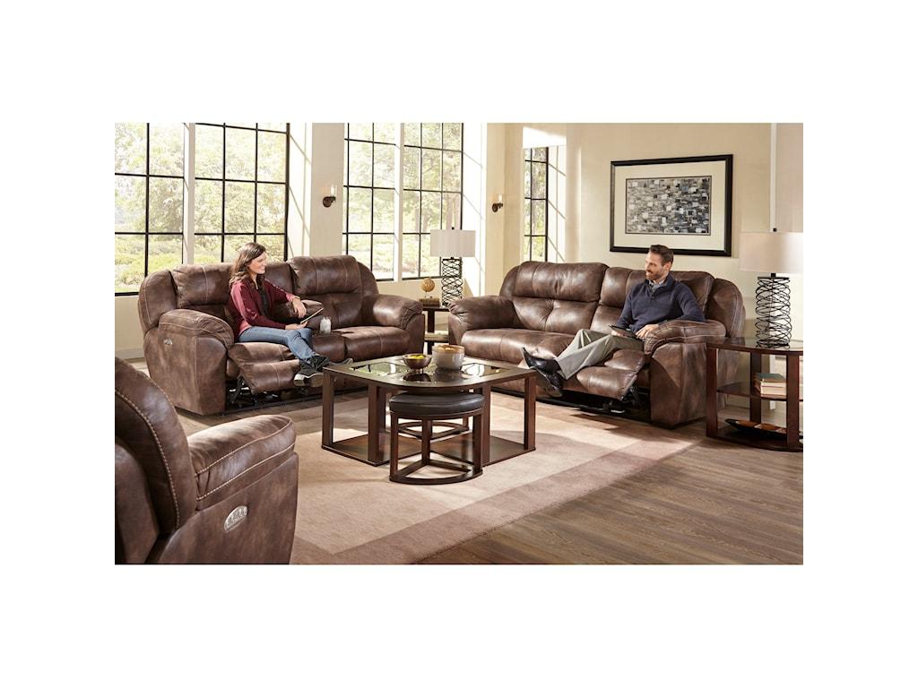 Catnapper FerringtonPower Headrest Lay Flat Reclining Sofa