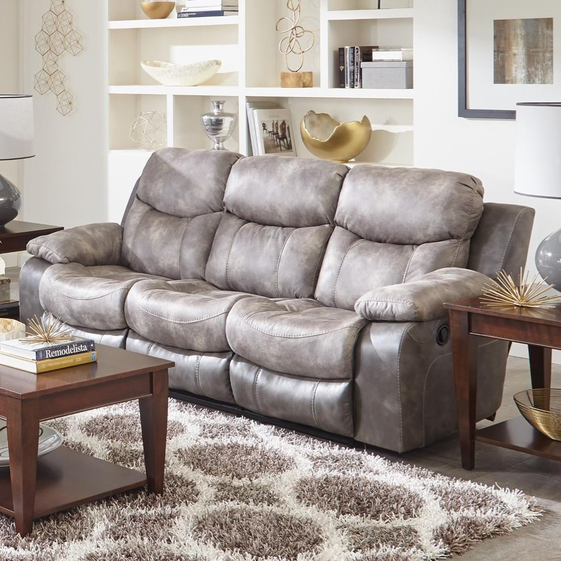Catnapper HendersonPower Reclining Sofa With Drop Down Table