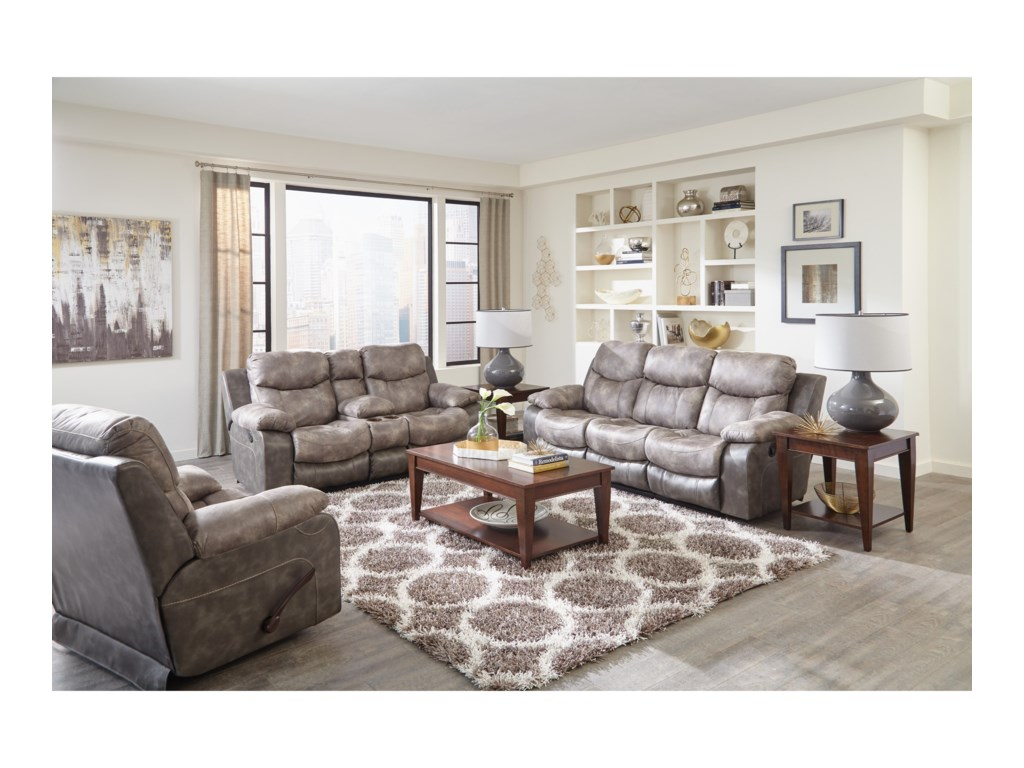 Catnapper LiamReclining Sofa with Drop Down Table