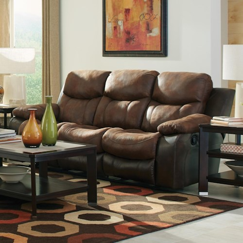 Catnapper Henderson Power Reclining Sofa With Drop Down Table