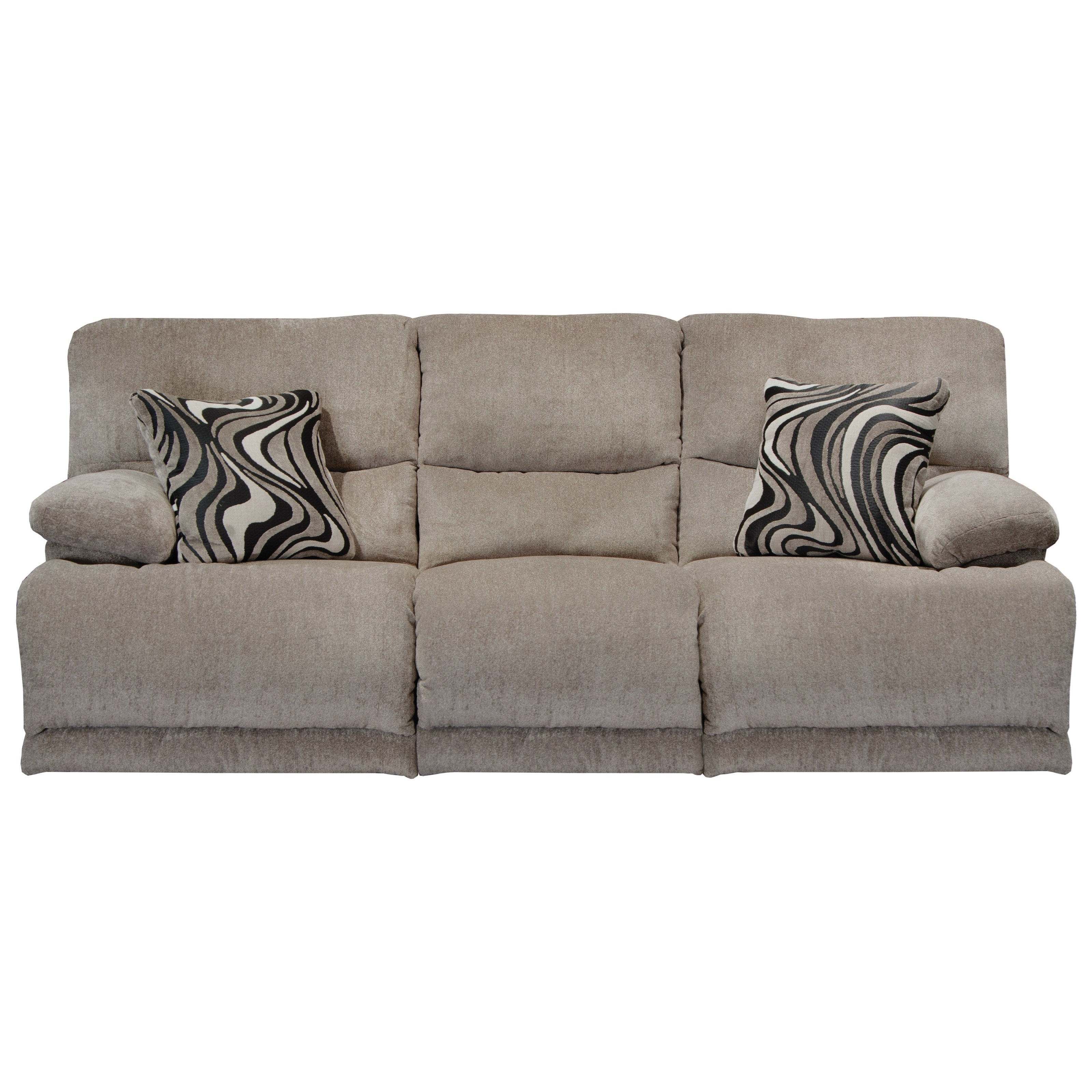 Catnapper Jules Casual Reclining Sofa With Pillow Arms
