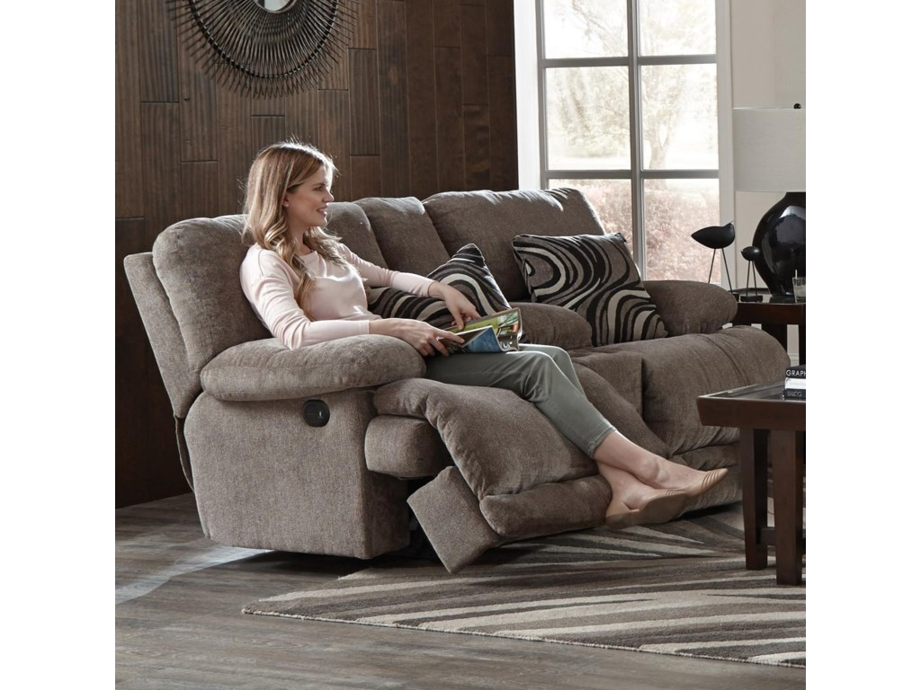 Catnapper JulesPower Reclining Console Loveseat