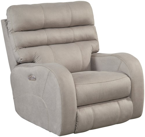 Catnapper Kelsey Contemporary Lay Flat Power Recliner with Power Headrest