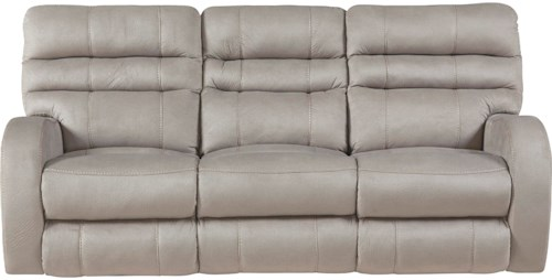 Catnapper Kelsey Contemporary Power Lay Flat Reclining Sofa with Power Headrest