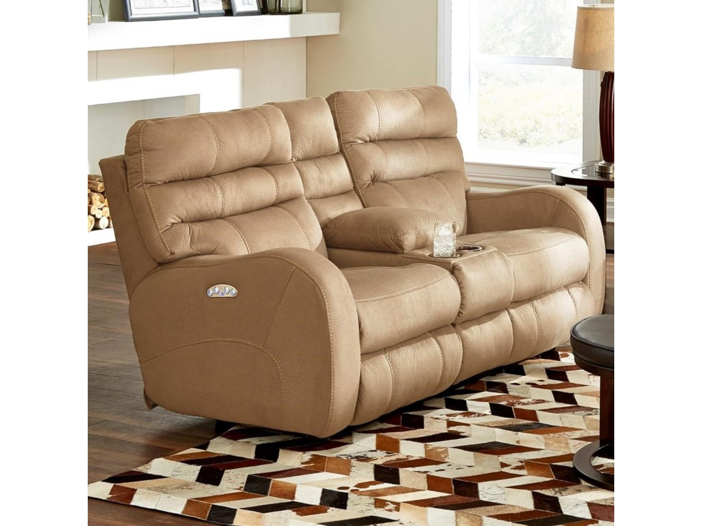 atlas tall console loveseat reclining catnapper power w extra