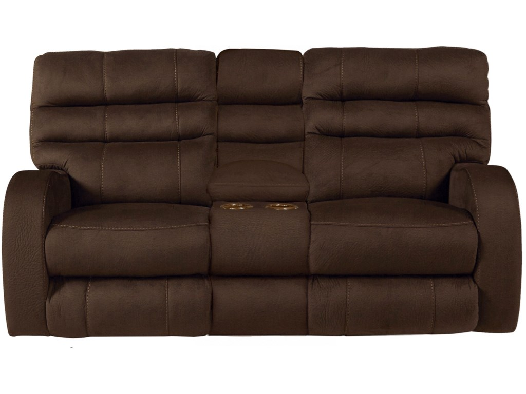 Catnapper KelseyPower Lay Flat Reclining Console Loveseat