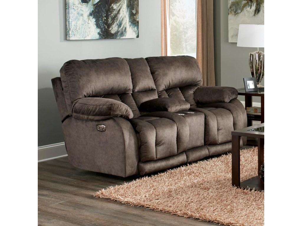 Catnapper KendallPower Lay Flat Reclining Loveseat