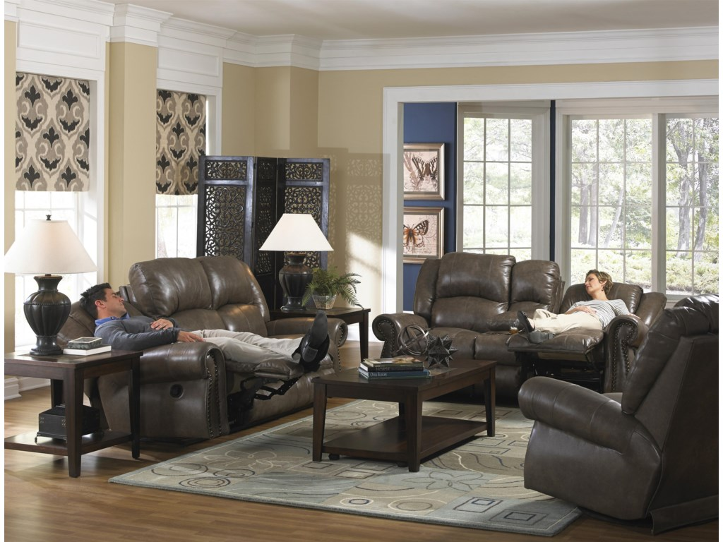 Catnapper livingston power reclining sofa with drop down table and livingston power reclining sofa with drop down table and nailhead trim by catnapper geotapseo Choice Image