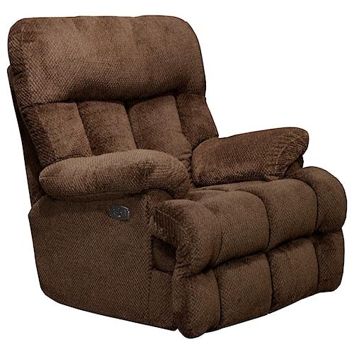 catnapper manley 64704 7 power headrest lay flat recliner