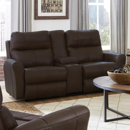 Voice-Controlled Lay Flat Console Loveseat