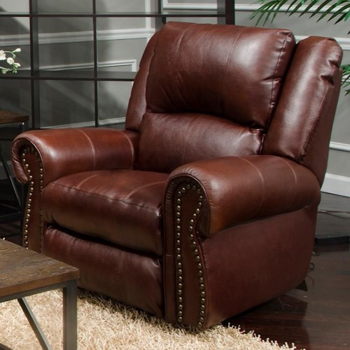 Catnapper Messina Traditional Power Lay Flat Recliner with Power Headrest and Lumbar