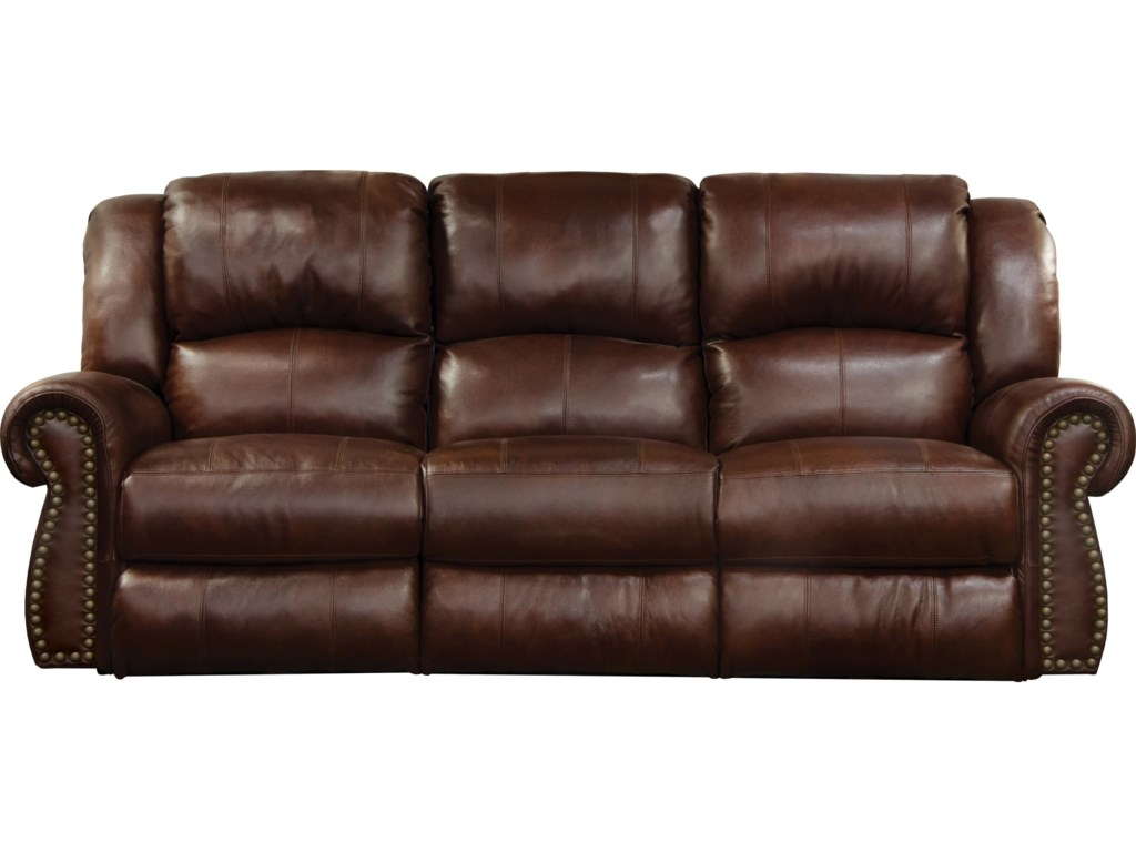 Catnapper Messina Traditional Power Lay Flat Reclining Sofa With