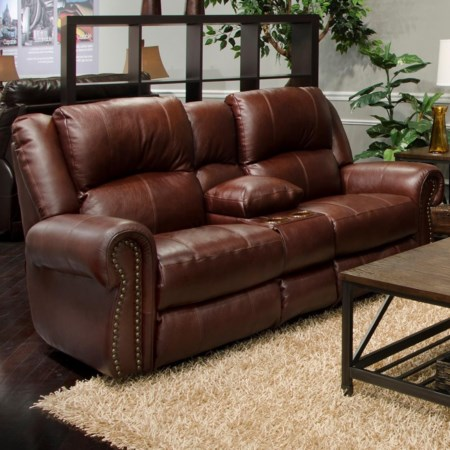 Power Reclining Lay Flat Console Loveseat