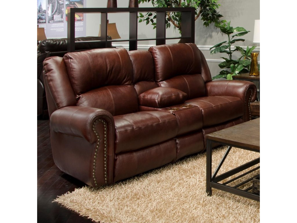 Catnapper MessinaPower Reclining Lay Flat Console Loveseat