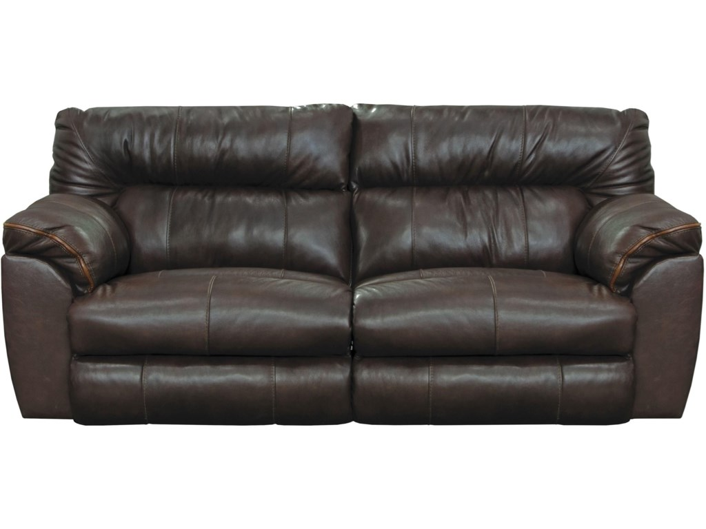 Milan Casual Leather Lay Flat Reclining Sofa by Catnapper at Standard  Furniture