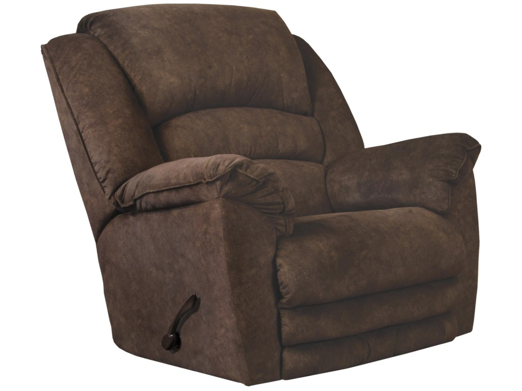 Catnapper Motion Chairs and ReclinersRialto Chocolate Rocker Recliner