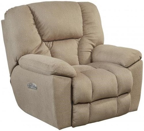 Catnapper Motion Chairs and Recliners Owens Power Headrest Lay Flat Recliner with Lumbar