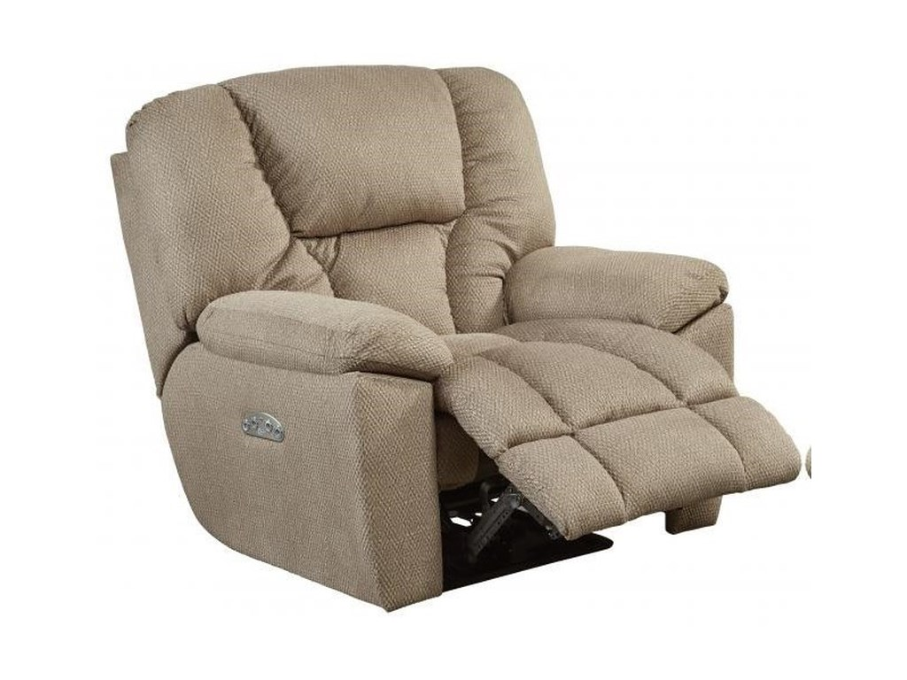 Catnapper Motion Chairs and ReclinersPwr Headrest Lay Flat Recliner w/ Lumbar