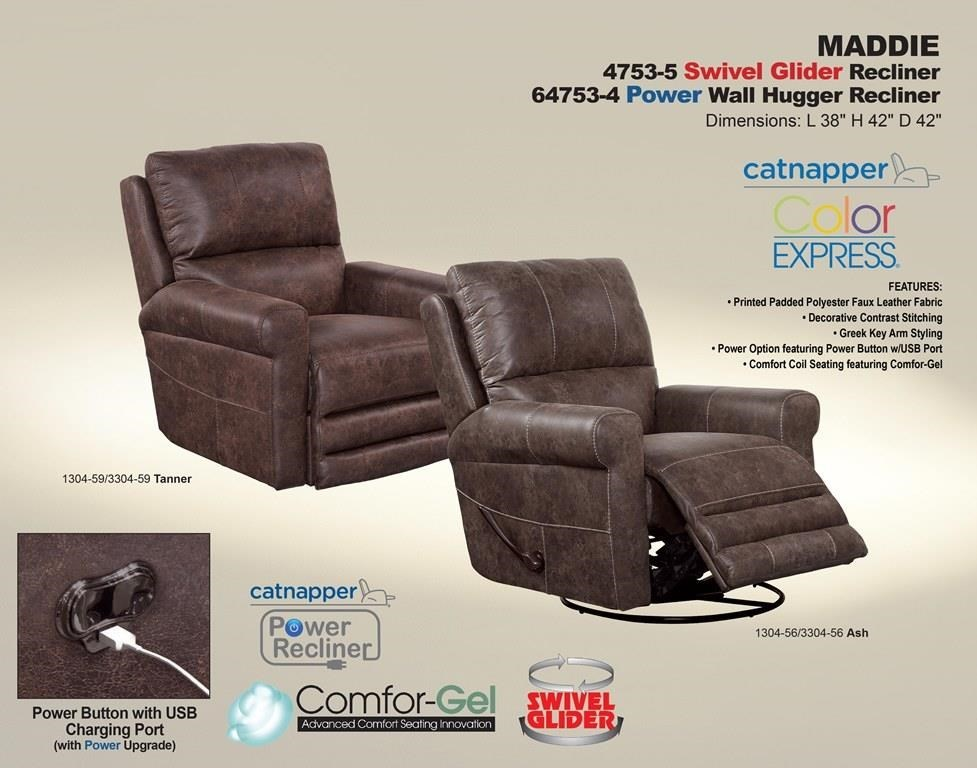 Catnapper Motion Chairs and Recliners CATN-4753-51304-59/3304-59 Maddie Tanner Swivel Glider Recliner & Catnapper Motion Chairs and Recliners Maddie Tanner Swivel Glider ... islam-shia.org
